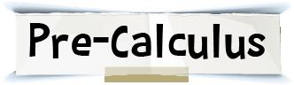 pre-calculus title